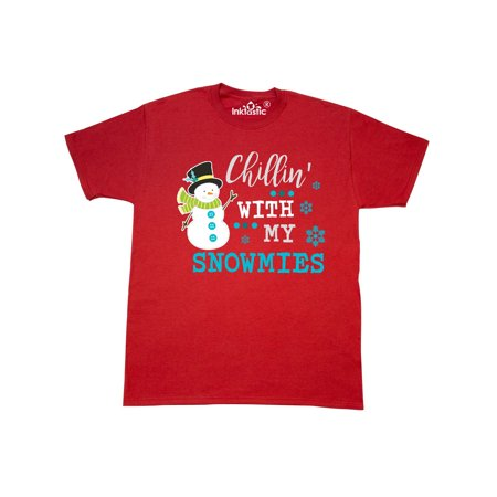 Chillin Snowman - Chillin with my Snowmies with Snowman Clip Art T-Shirt
