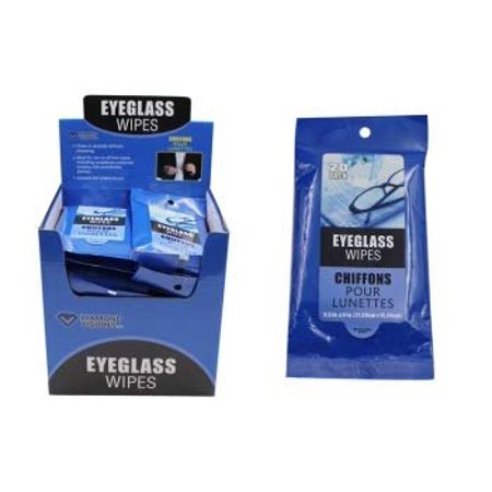 Diamond Visions 11-1564 Eyeglass Wipes 2 Packs (40 Total Wipes)