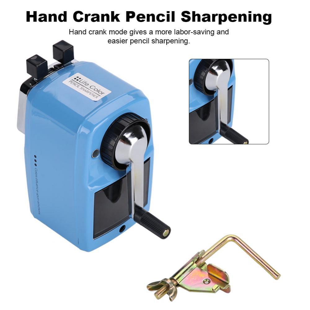 Easy Cleaning Hand Crank Sharpener Metal Hob Uniform Pencil Sharpening Hand Pencil Sharpener, Metal Pencil Sharpener, Mechanical Pencil Sharpener