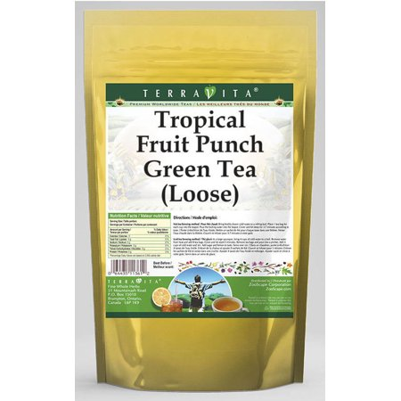 Tropical Fruit Punch Green Tea (Loose) (4 oz, ZIN: - Halloween Punch Alcoholic Green