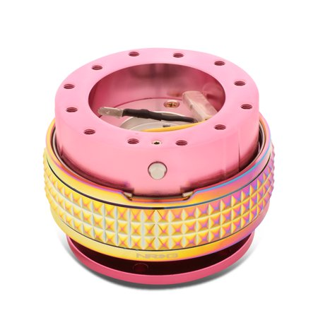 NRG Innovations SRK-210PK-MC Steering Wheel Quick Release Adapter Gen 2.1 Pink Body/Neo Chrome Ring