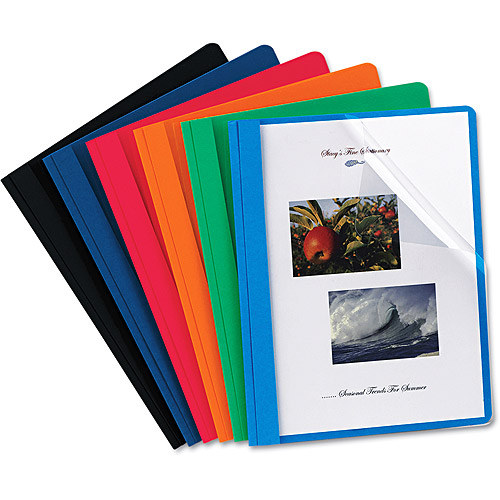 "Oxford 1/2"" Report Cover, Assorted Colors, 25/Box"