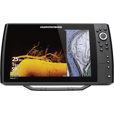 Humminbird 410910-1CHO HELIX 12 CHIRP Sonar G3N Dual Spectrum Combo  Fishfinder/GPS/Chartplotter with MEGA Down Imaging + & Control Head (No