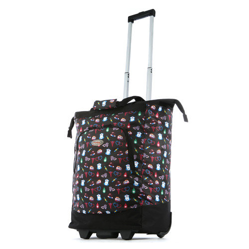 Olympia Patterned Rolling Shopping Tote