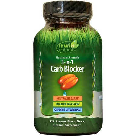 Irwin Naturals Maximum Strength 3-in-1 Carb Blocker & Metabolism Support Weight Loss Pills, 75