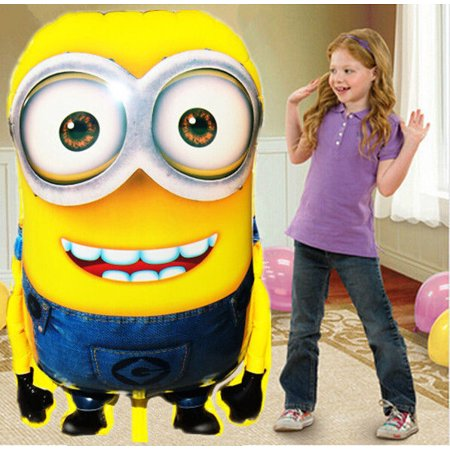 US HUGE GIANT MINION Foil Balloons Decor Baby Shower Birthday Party Supplies lot (Purple Minion Party Supplies)