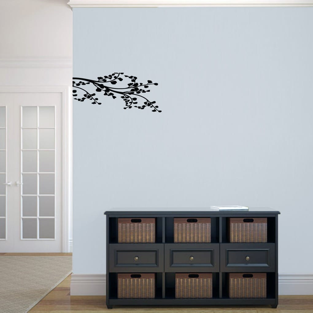 Sweetums Leafy Branch Flourish' 22.5 x 10-inch Wall Decal