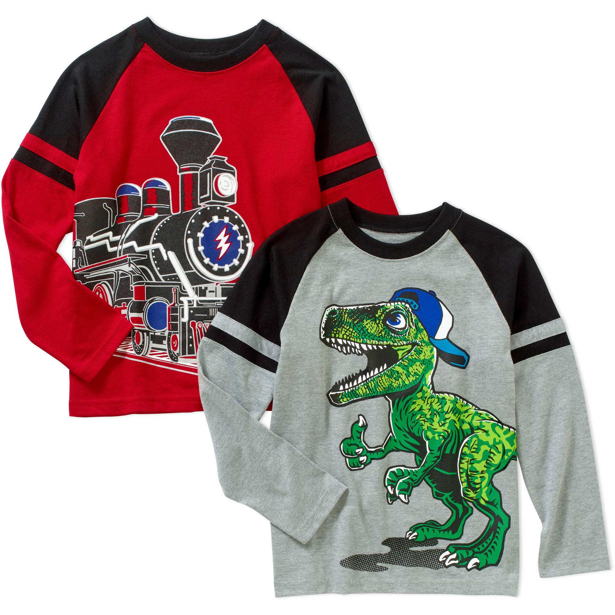 365 Kids from Garanimals Boys' 2-Piece Long Sleeve Graphic Raglan Tee Set