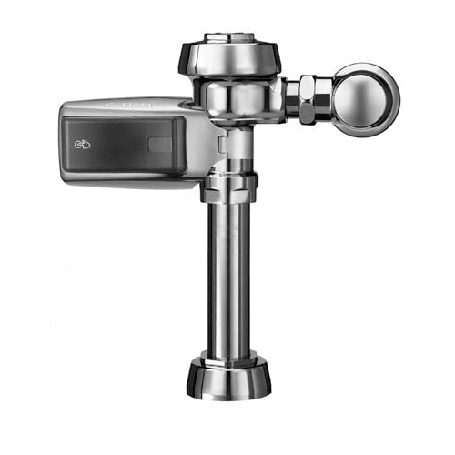 """Sloan ROYAL 111-1.2 SMOOTH Water Conserving (1.2 gpf) Exposed, Battery Powered, Sensor Activated, Royal? Optima? SMOOTH? Water Closet Flushometer for floor mounted or wall hung 1-1/2""""  top spud bowls."""