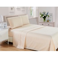 Checkered Collection Embossed 4 Piece Deep Pocket 1800 Series Bed Sheet Set Comfortable, Breathable, Soft & Extremely Durable by Lux Decor