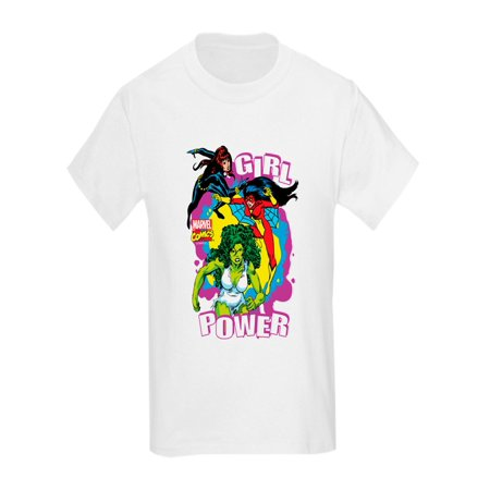 CafePress - Marvel Comics Girl Power - Kids Light T-Shirt (Marvels Kids)