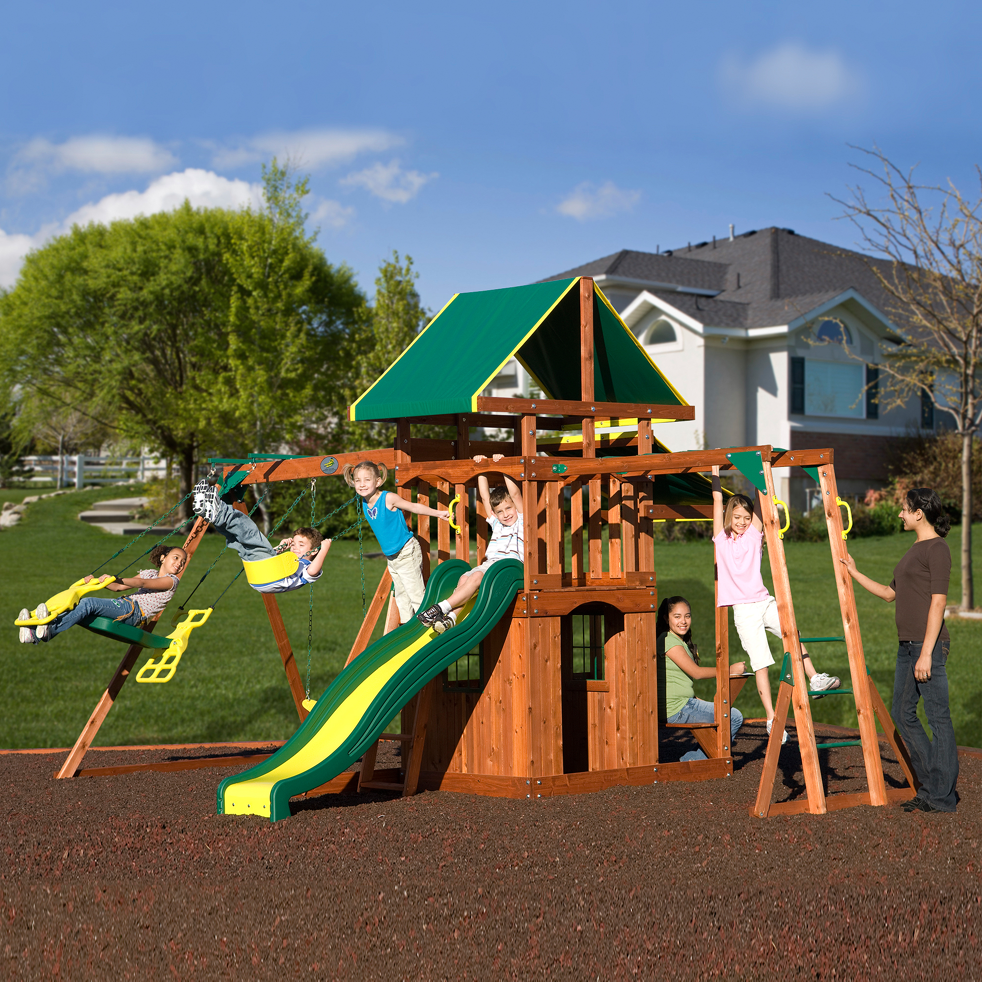 Adventure Playsets Meridian Cedar Wooden Swing Set