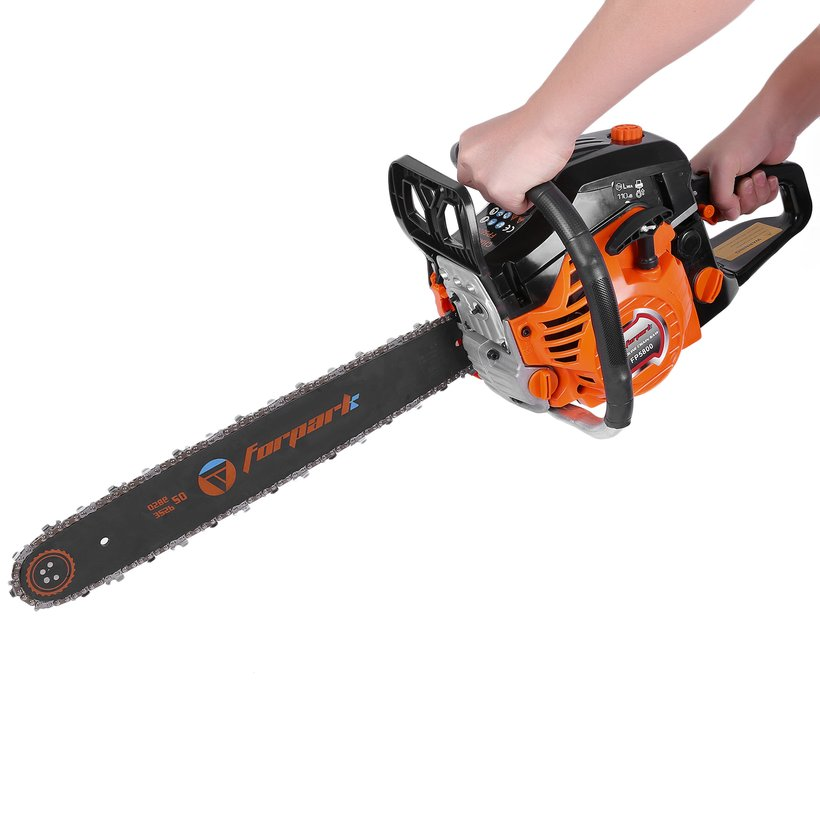 Professional 20 Inch 2 Cycle Gas Chainsaw Automatic Chain Oiler Orange 5200-2 by konxa
