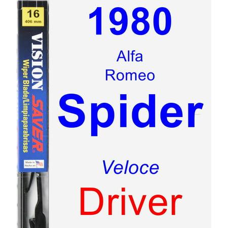 1980 Alfa Romeo Spider (Veloce) Driver Wiper Blade - Vision Saver