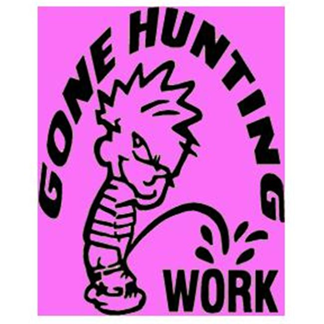 Western Recreation Ind 11067 Gone Hunting Decal 6X6