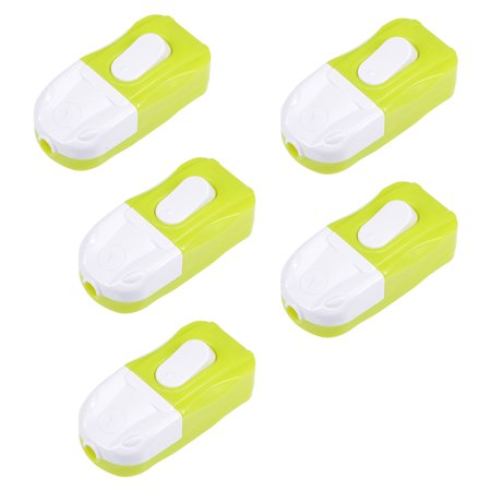 Inline Cord Switch On-Off DPST Lamp Light Bed Switch AC 250V 6A Green 5Pcs - image 3 of 3