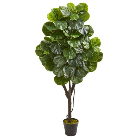 - Nearly Natural 5-Ft. Fiddle Leaf Fig Artificial Tree