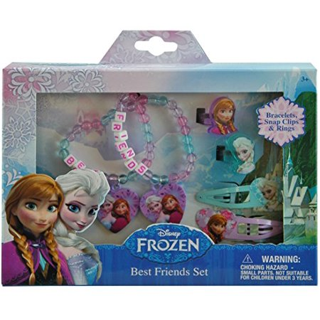 Disney Frozen Elsa and Anna Girls Hair and Jewelry Accessory 6 Piece Gift Set](Frozen Accessories)