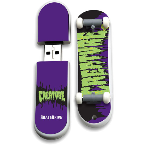 ACP - EP Memory Action Sport Drives 8GB Creature USB Skate Drive, Toxic
