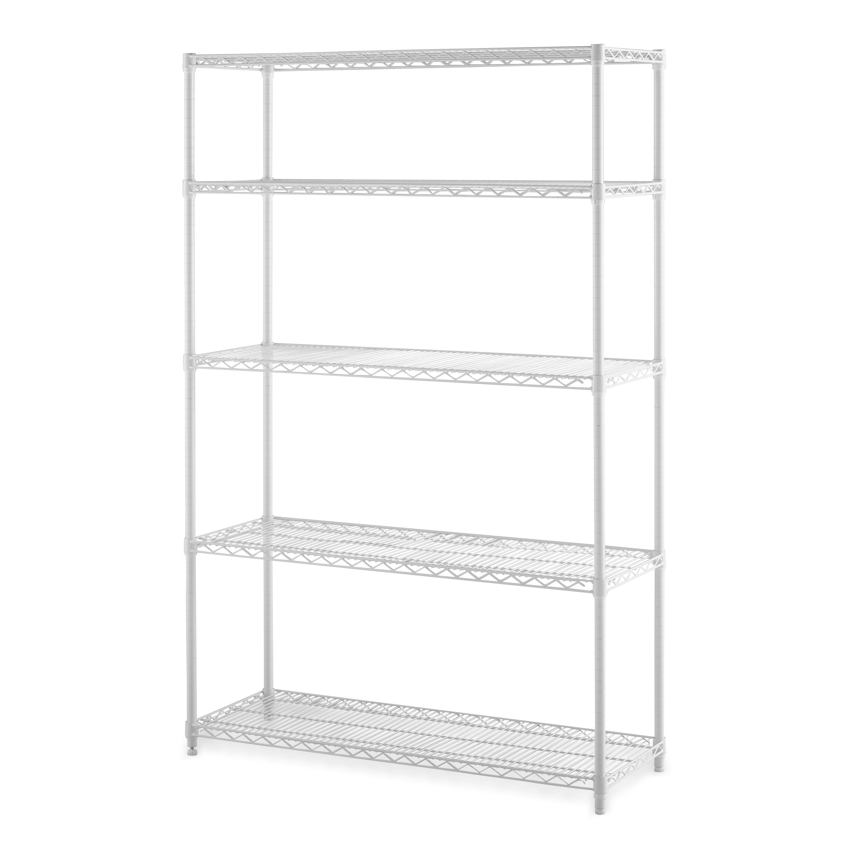 Hyper Tough 16 D X 48 W X 72 H 5 Shelf Heavy Duty Wire Shelving Storage Rack Black Walmart Com Walmart Com