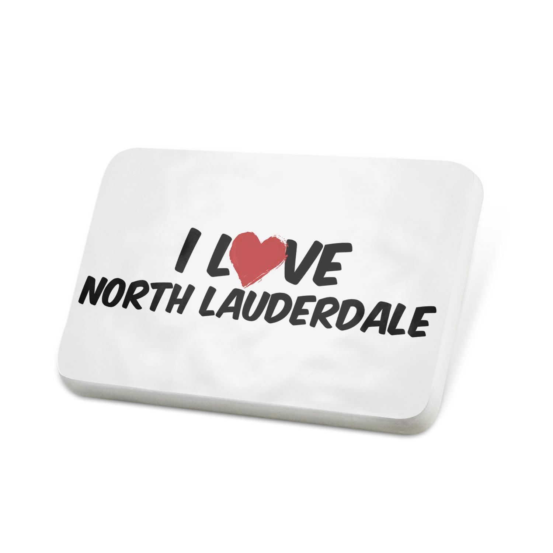 Porcelein Pin I Love North Lauderdale Lapel Badge – NEONBLOND