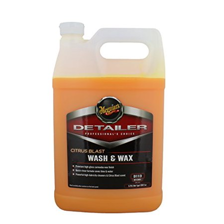 Meguiar's Citrus Blast Wash & Wax – Fast, Effective Car Wash and Carnauba Wax Finish – D11301, 1 gal
