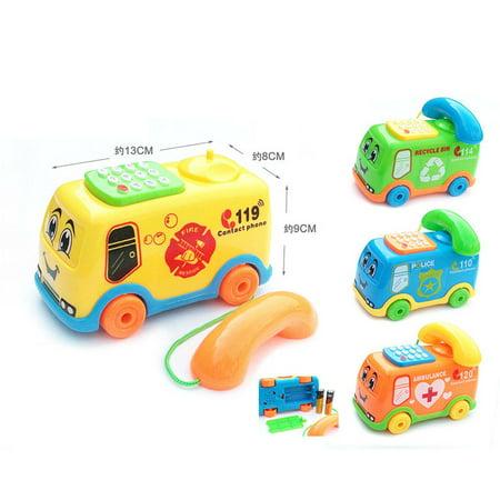 2017 Baby Toys Music Cartoon Bus Phone Educational Developmental Kids Toy Gift (Halloween Cartoons For Kids 2017)
