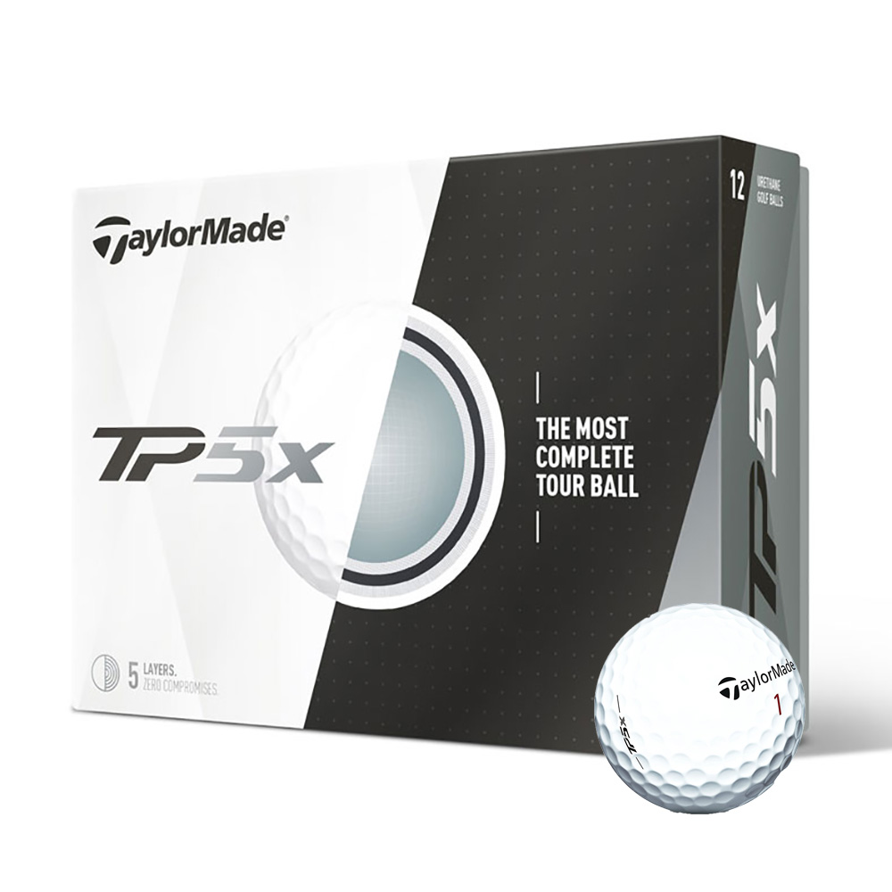 TaylorMade TP5x Golf Balls, 12 Pack
