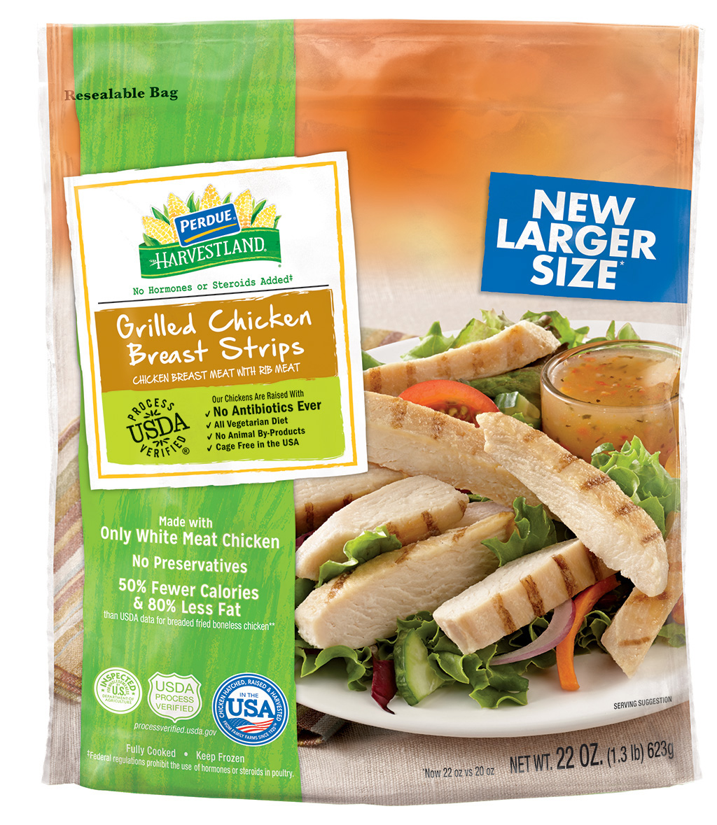 Perdue Harvestland Grilled Chicken Breast Strips 22 Oz Walmart Com
