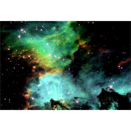 - Black Light Reactive Star Cluster NGC 2074 in the Large Magellanic Cloud Hi Gloss Space Poster