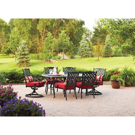 Better homes and gardens fairglen 7 piece outdoor dining set brown box 1 of 2 7 better homes and gardens