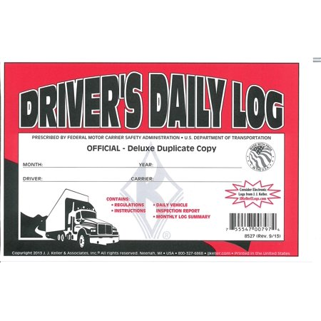 j j keller 8527 601l drivers daily log book with simplified dvir