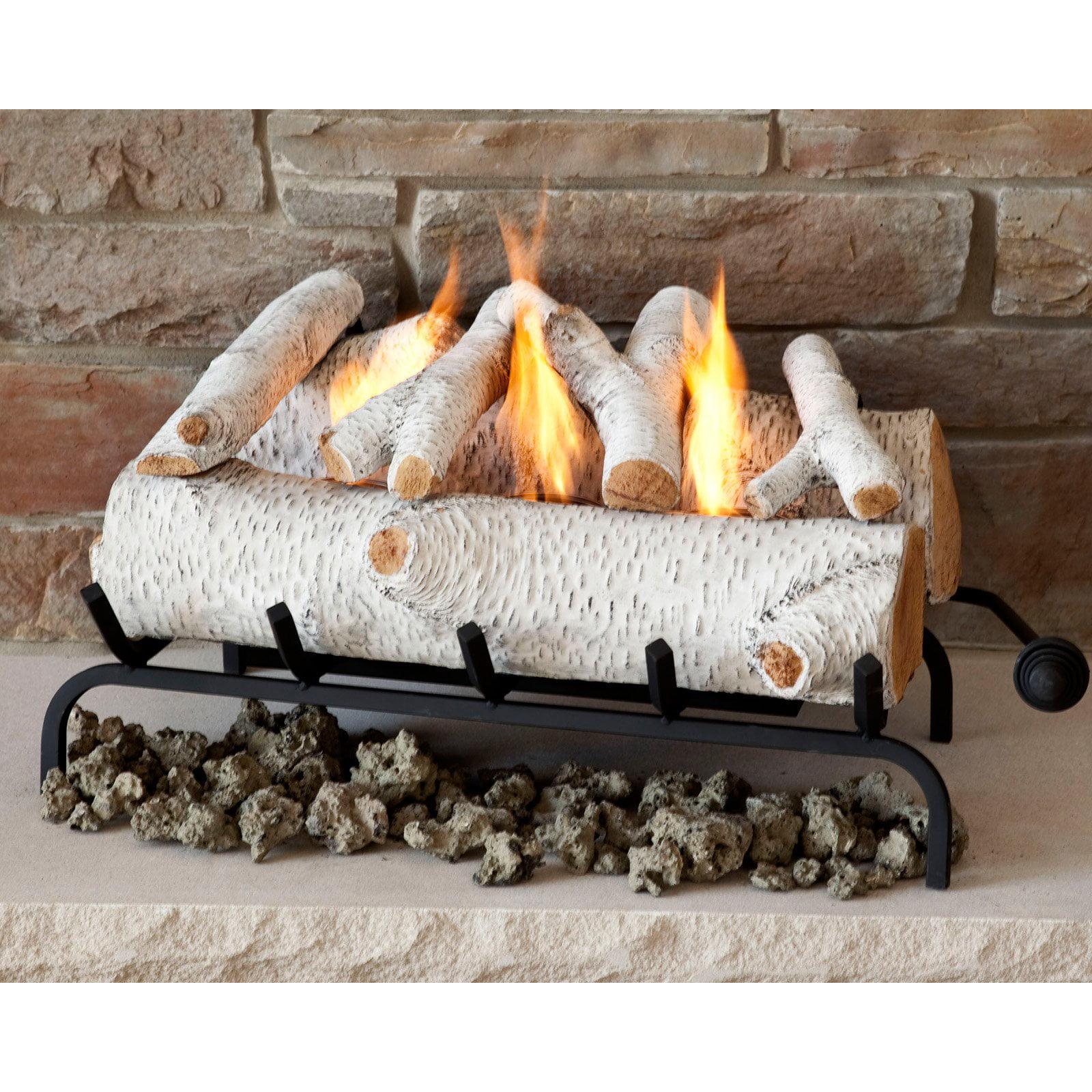 Real Flame 24 in. Convert to Gel Log Set- Birch