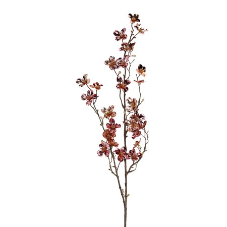 43 Metallic Pink Artificial Dogwood Floral Craft Spray - image 1 of 1