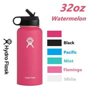 Hydro Flask 32 oz Water Bottle with Straw, Stainless Steel, Vacuum InsulatedLid