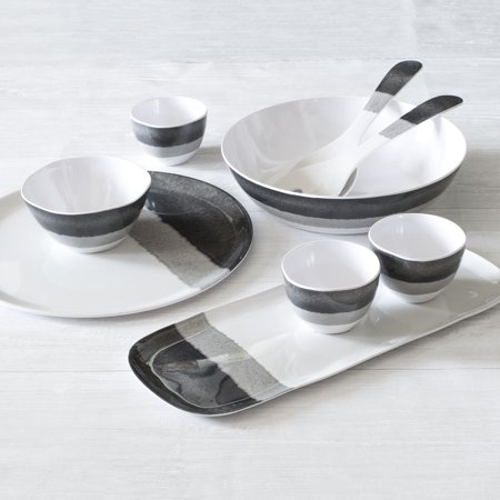 Better Homes & Gardens Neutralis Melamine Appetizer Tray with Dip Bowls