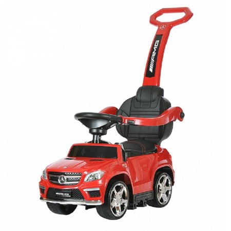 Best Ride On Cars 4-in-1 Mercedes Car Riding Push