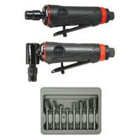 Astro Pneumatic Tool 219 ONYX 3-Piece Die Grinder Kit w/ 90° Die Grinder, Die Grinder & 8-Piece Double Cut Carbide Rotary Burr Set
