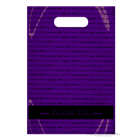 Purple Thank You Bags with hanles, 9