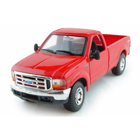 Ford Mighty F350 Super Duty Pick-up, Red - Maisto 31937R - 1/24 Scale Diecast Model Toy