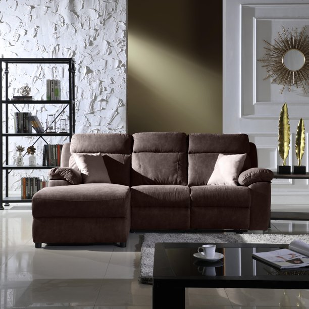 Reclining Sectional Sofa Brown