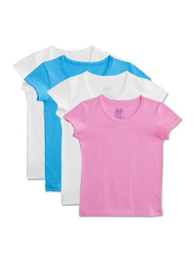 Assorted Cotton T-Shirts, 4 Pack (Toddler Girl)
