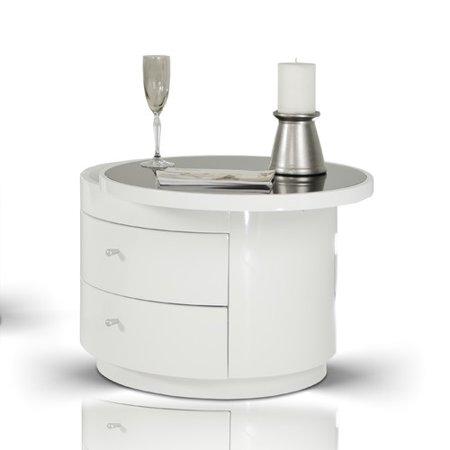 Vig Furniture Inc Modrest Symphony White Round Nightstand