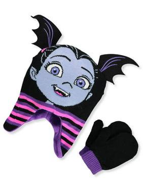 Disney Vampirina Girls' Beanie & Mittens Set (Toddler One Size)
