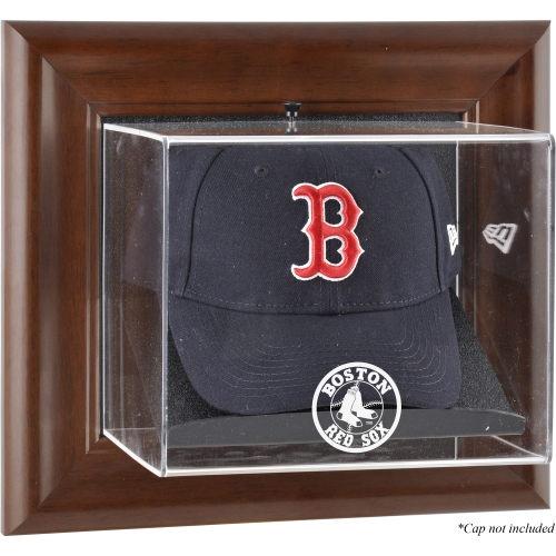 Boston Red Sox Fanatics Authentic Brown Framed Wall-Mounted Logo Cap Case - No Size