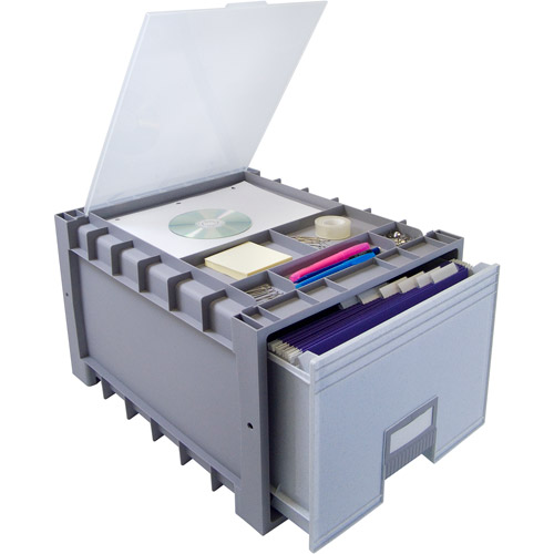 "Storex Archive Storage Box, Letter Size, 18"" Drawer"