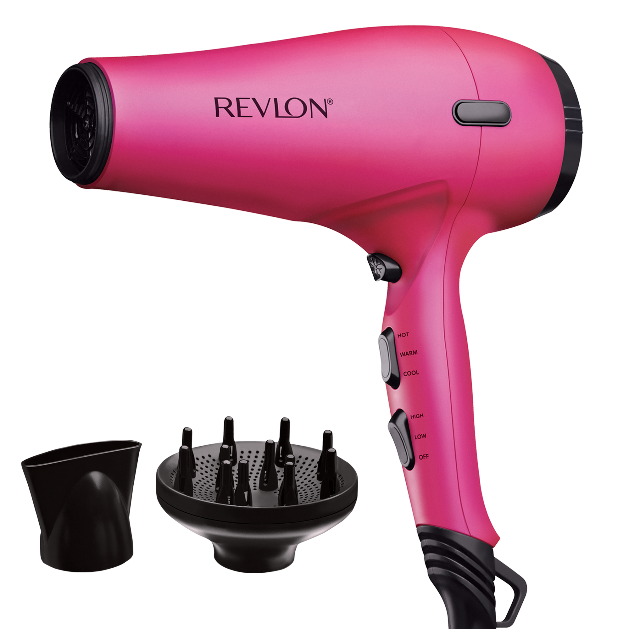 Revlon Pro Collection Fast Style RVDR5141PNK 1875W Tourmaline AC Motor Hair Dryer, Pink