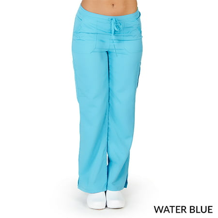 2 Pocket New Scrub (Ultra Soft Women's Cargo Multi-Pocket Scrub Pant, Style 9118)