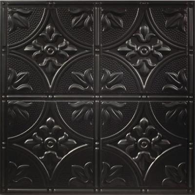 Genesis 2ft x 2ft Antique Black Lay In Ceiling Tile, Casen of 12