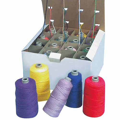 Sax Acrylic 4-Ply Double-Weight Yarn Cone Set, Dispenser Box, Assorted, 4 oz, Set of 16